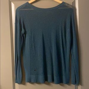 Lululemon Dark Green Sweater with netted back
